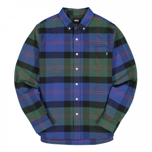 Stussy Classic Oxford Longsleeve Shirt ( 1110063 / 0482 / Green Plaid )