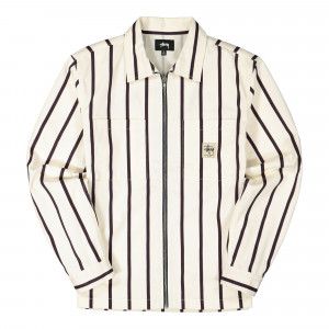 Stussy Zip Up Work Shirt ( 1110092 / 922 / Stripe )