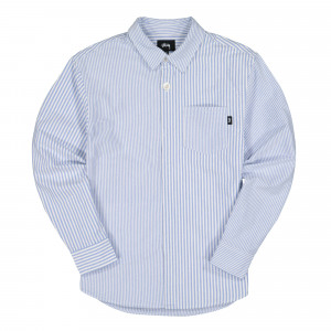 Stussy Big Button Oxford Longsleeve Shirt ( 1110111 / 0801 / Blue )