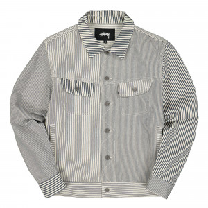Stussy Mixed Stripe Trucker Jacket ( 115465 / 0000 / Hickory Stripe )
