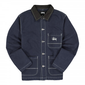 Stussy Brushed Moleskin Chore Jacket ( 115524 / 0806 / Navy )