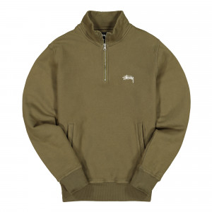Stussy Stock Fleece Mock ( 118329 / 0403 / Olive )