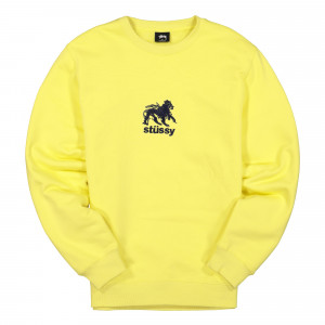 Stussy Lion Applique Crew ( 118340 / 0408 / Lemon )