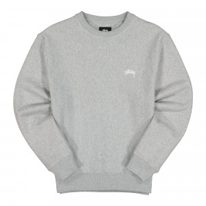 Stussy Logo Crew ( 118363 / 0009 / Grey Heather )