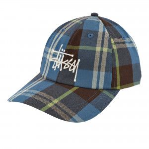 Stussy Big Logo Madras Plaid Low Pro ( 131943 / 0801 / Blue )