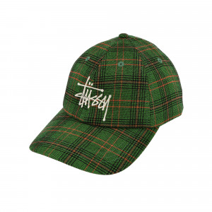 Stussy Big Logo Plaid Low Pro Cap ( 131957 / 0401 / Green )