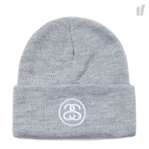Stussy SS Link Cuff Beanie ( 132896 / 0009 / Grey Heather )