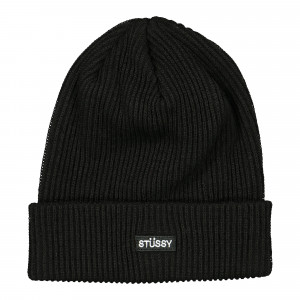 Stussy Small Patch Watch Cap Beanie ( 132957 / 0001 / Black )