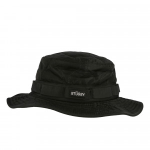 Stussy Quilted Ripstop Boonie Hat ( 132960 / 0001 / Black )