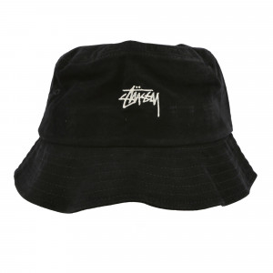 Stussy Stock Canvas Bucket Hat ( 132961 / 0001 / Black )