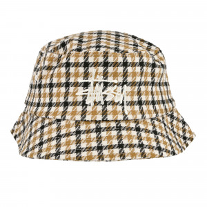 Stussy Big Logo Check Plaid Bucket ( 132963 / 0203 / Mustard