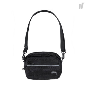 Stussy Diamond Ripstop Shoulder Bag ( 134191 / 0001 / Black )