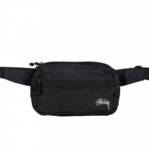Stussy Light Weight Waist Bag ( 134210 / 0001 / Black )