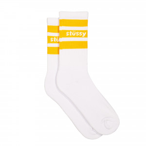 Stussy Sport Crew Socks ( 138681 / 1802 / White / Orange )