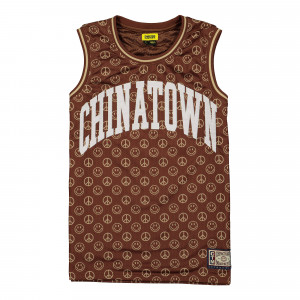 Chinatown Market Smiley Cabana Basketball Jersey ( 1690008 / 1001 / Brown )