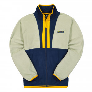 Columbia Back Bowl Lightwight Fleece Jacket ( 1890764348 / Safari / Collegiate Navy / Bright Gold )