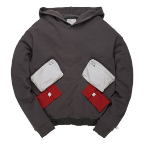 C2H4 Utility Multi-Pockets Data Cable Hoodie ( 18FW-005 / Dark Gray )