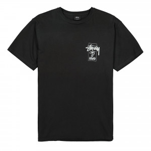 Stussy Coat of Arms Pigment Dyed Tee ( 1904522 / 0001 / Black )