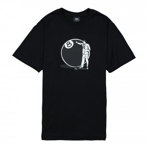 Stussy 8 Ball Man Tee ( 1904534 / 0001 / Black )