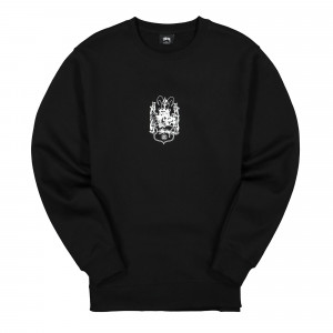 Stussy True To This Crew ( 1914533 / 0001 / Black )