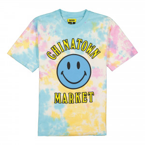 Chinatown Market Smiley Multi Tee Tie Dye ( 1990273 / 2198 / Tie Dye Purple )