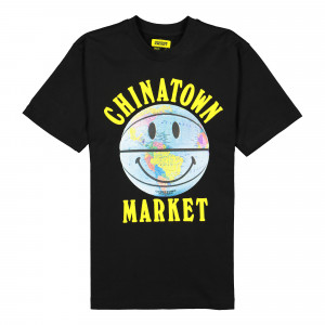 Chinatown Market Smiley Globe Ball Tee ( 1990276 / 0001 / Black )