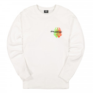 Stussy Great Future Longsleeve Tee ( 1994444 / 1201 / White )