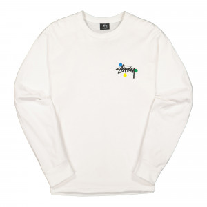 Stussy Dot Collage Longsleeve Tee ( 1994526 / 1201 / White )
