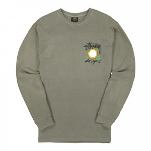 Stussy High Desert Pigment Dyed LS Tee ( 1994531 / 0403 / Olive )