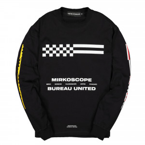 United Standard Mikroscope Flags Long Sleeve Shirt ( 19WUSLS25 / 003 Black )