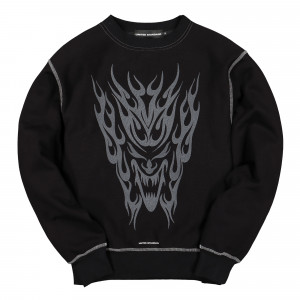 United Standard Tribal Crewneck ( 19WUSSC06 / 003 Black )