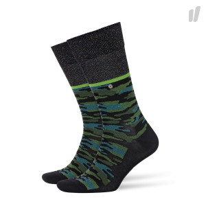 Burlington Glitter Camo Socks ( 20562-3001 / Black / Green )