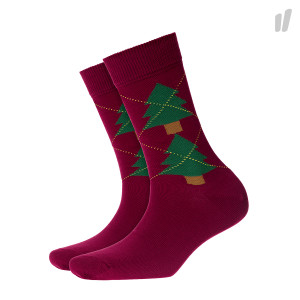 Burlington Wmns Tannenargyle Socks ( 20680-8370 / Red )