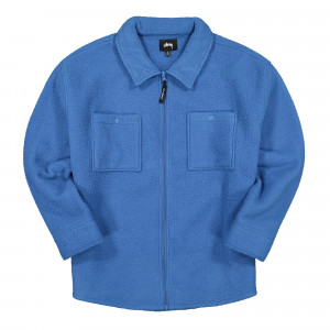 Stussy Polar Fleece Zip Shirt ( 211181 / 0801 / Blue )