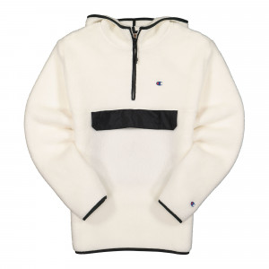 Champion Hooded Half Zip Top ( 215115-WW003 / White )