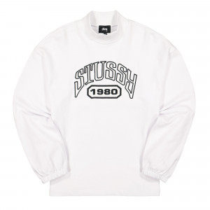 Stussy Tribute Terry Mock Neck ( 218098 / 1201 / White )