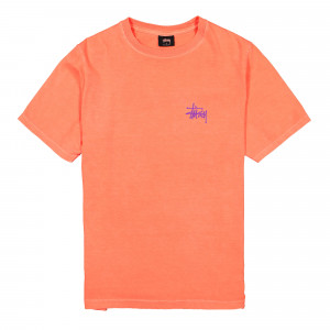 Stussy Basic Pigment Dyed Tee ( 2903082 / 0663 / Neon Orange )