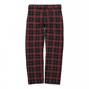 Wasted Paris Tartan Pant ( 128261 / Black/Red )