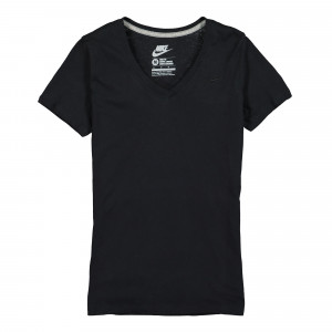 Nike Wmns V-Neck Embroidered Swoosh Tee ( 547468 010 )