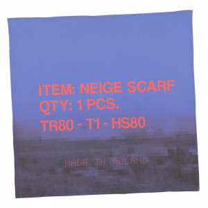 Neige Landscape Scarf ( AW1945 / Blue / Red )