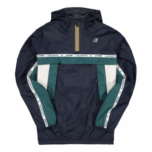 K-Way x Lacoste Colourblock Windbreaker ( BH9805-00-ZA7 / Marine Sombre )