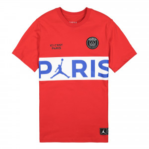 Paris Saint Germain x Air Jordan SS Wordmark Tee ( BQ8389 657 )