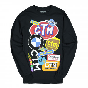 Chinatown Market Logo Collage Long Sleeve ( CTMM19-LGLS / Black )