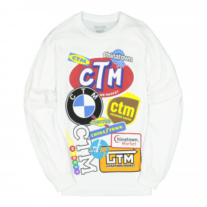 Chinatown Market Logo Collage Long Sleeve ( CTMM19-LGLS-W / White )