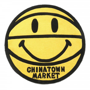 Chinatown Market Smiley Basketball Rug 4 FT ( CTM260182 / 0201 / Yellow )