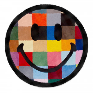 Chinatown Market Smiley Color Tile Rug 4 FT ( CTM260217 / 1408 / Multi )