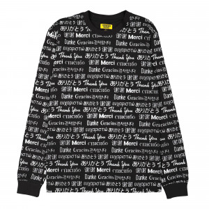 Chinatown Market Multi Language Long Sleeve ( CTMF18-MLLS / Black )