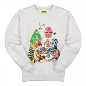 Chinatown Market Friends Crewneck ( F20-1960003 / 0008 / Grey )