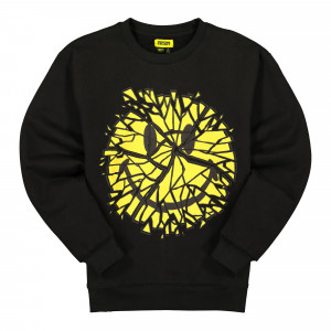 Chinatown Market Glass Smiley Crewneck ( F20-1960004 / 0001 / Black )