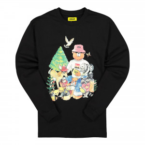 Chinatown Market Friends LS Tee ( F20-1980002 / 0001 / Black )